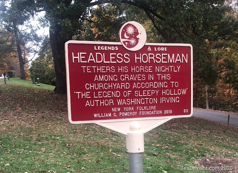 Sign in Sleepy Hollow about the headless horseman