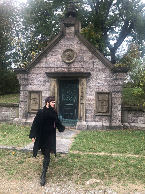 Tea Deviant in Sleepy Hollow Cemetery