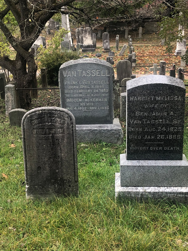 Van Tassell gravestones in Sleepy Hollow Cemetery